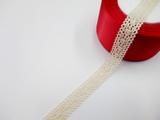 Кружево вязаное цв. льняной 18 мм.