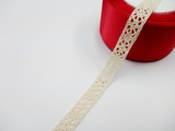 Кружево вязаное цв. льняной 14 мм.