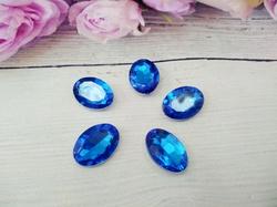 Кабошоны  Rivoli цв. синий 13х18мм.