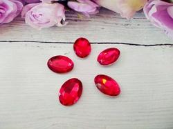 Кабошоны  Rivoli цв. красный 13х18мм.