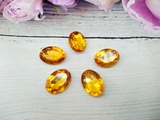Кабошоны  Rivoli цв. желтый 13х18мм.