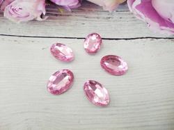 Кабошоны  Rivoli цв. розовый 13х18мм.