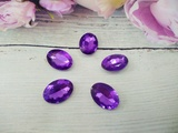 Кабошоны  Rivoli цв. фиолетовый 13х18мм.