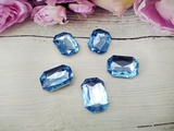 Кабошоны  Rivoli цв. голубой 18х25мм.