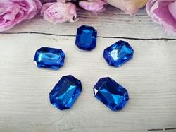 Кабошоны  Rivoli цв. синий 18х25мм
