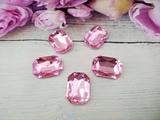 Кабошоны  Rivoli цв. розовый 18х25мм