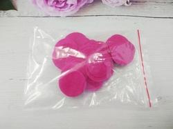 Фетровые кружочки цв. ярко-розовый D25 мм.