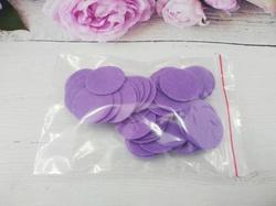 Фетровые кружочки цв. фиолетовый D25 мм.