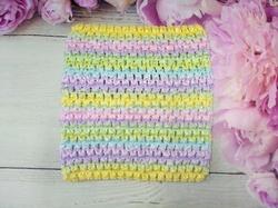 Топ - основа для платьев tutu в полоску цв. разноцветный 15х15 см.