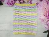 Топ - основа для платьев tutu в полоску цв. разноцветный  23х20 см.