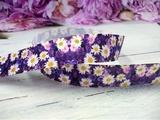 """Репсовая лента с рисунком """"цветы"""" С-08 25 мм."""