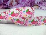 """Репсовая лента с рисунком """"Hello Kitty"""" К-03 25 мм."""