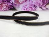 Репсовая лента с люрексом цв. черный 9 мм.