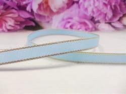 Репсовая лента с люрексом цв. голубой 9 мм.