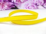 Репсовая лента с люрексом цв. желтый 9 мм.