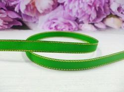 Репсовая лента с люрексом цв. зеленый 9 мм.