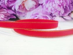 Репсовая лента с люрексом цв. красный 9 мм.