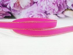Репсовая лента с люрексом цв. ярко-розовый 9 мм.