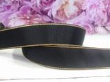 Репсовая лента с люрексом цв. черный 25 мм.