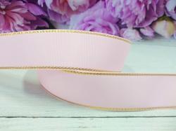 Репсовая лента с люрексом цв. розовый 25 мм.