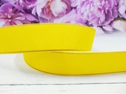 Репсовая лента с люрексом цв. желтый 25 мм.