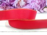 Репсовая лента с люрексом цв. красный 25 мм.