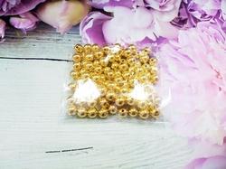 Бусины цв. золото зеркальный блеск D 8 мм. (100 шт.)