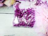 Бусины цв. малиновый  зеркальный блеск D 8 мм. (100 шт.)