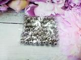Бусины цв. серебро зеркальный блеск D 8 мм. (100 шт.)