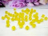 Бусины акриловые многогранные цв. желтый, куб 10х10 мм. (50 шт.)