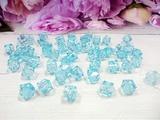 Бусины акриловые многогранные цв. голубой, куб 10х10 мм. (50 шт.)
