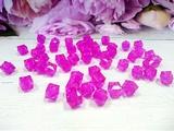 Бусины акриловые многогранные цв. малиновый, куб 10х10 мм. (50 шт.)