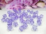 Бусины акриловые многогранные цв. светло-фиолетовый, куб 10х10 мм. (50 шт.)