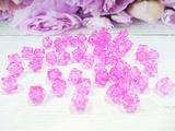 Бусины акриловые многогранные цв. ярко-розовый, куб 10х10 мм. (50 шт.)
