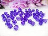 Бусины акриловые многогранные цв. фиолетовый, куб 10х10 мм. (50 шт.)