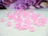 Бусины акриловые многогранные цв. розовый, куб 10х10 мм. (50 шт.)