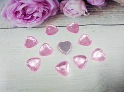 """Кабошоны """"сердце"""" цв. розовый D16 мм. (10 шт.)"""