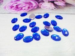 Кабошоны цв. синий 10х14 мм. (20 шт.)