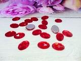 Кабошоны цв. красный 10х14 мм. (20 шт.)
