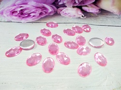 Кабошоны цв. розовый 10х14 мм. (20 шт.)