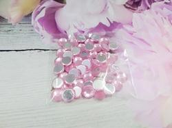 Стразы цв. розовый D 8мм.(50 шт.)