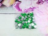 Стразы цв. зеленый D 8мм.(50 шт.)