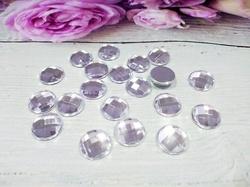 Кабошоны цв. серебро 12х12 мм. (20 шт.)