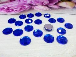Кабошоны цв. синий 12х12 мм. (20 шт.)