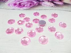 Кабошоны цв. розовый 12х12 мм. (20 шт.)
