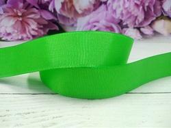 Репсовая лента цв. зеленый 25 мм.
