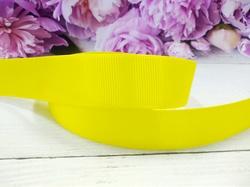 Репсовая лента цв. ярко-желтый 25 мм.