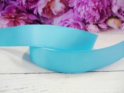 Репсовая лента цв. голубой 25 мм.