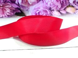Репсовая лента цв. красный 25 мм.