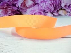 Репсовая лента цв. светло-оранжевый 25 мм.